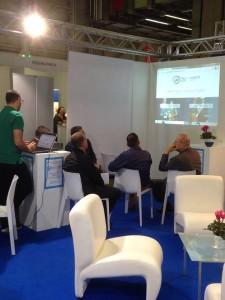 Una delle tante presentazioni durante la Fiera, a cura del programmatore del software Roberto Bottazzi (Web Agency Pronesis)